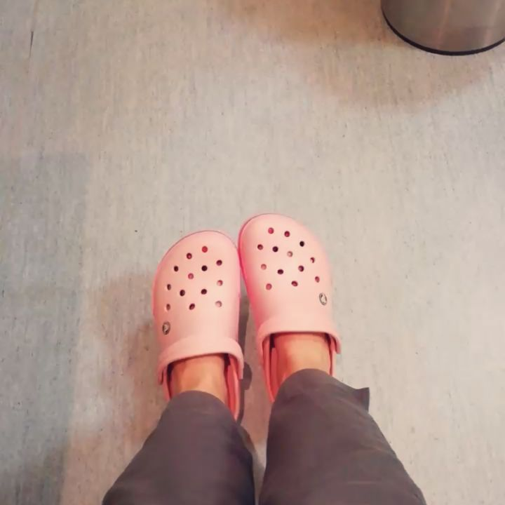 #work #dentistry #newshoes #pink #crocs