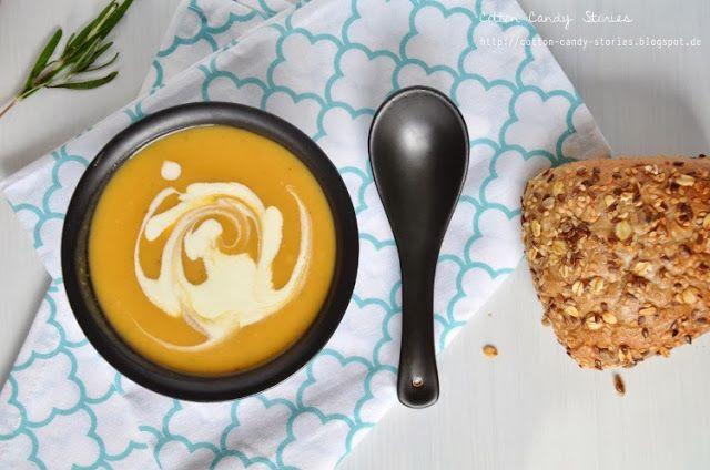 Cremige Süßkartoffel-Rosmarin-Suppe