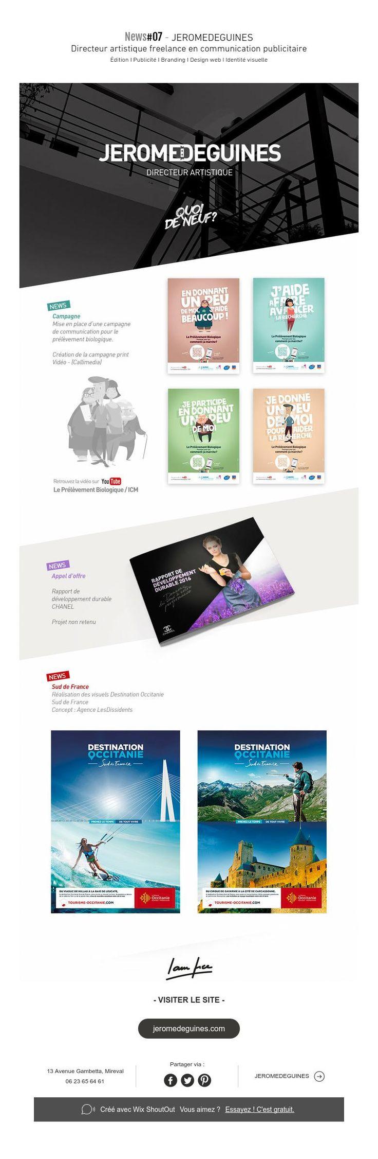 News#07 - JEROMEDEGUINES  Directeur artistique freelance en communication publicitaire Édition I Publicité I BrandingI Design web I Identité visuelle