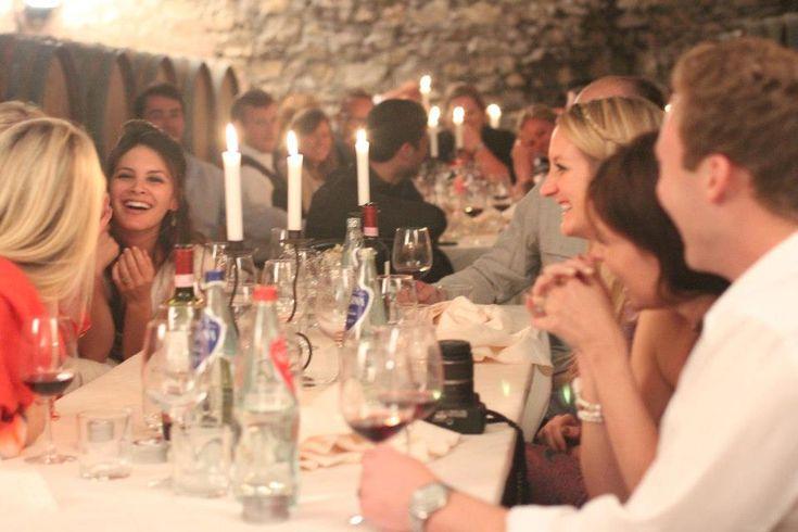 Dinner in the cellar - Castello di Meleto