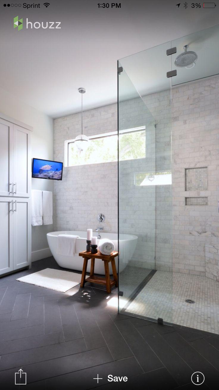 #home #style #decor #bathroom #tile #glass #shower #design
