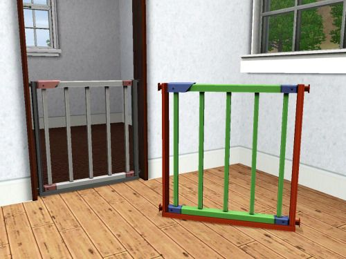 danjaley:  Separate Baby Gate for LilmisslauConverted yesterday night when my mind was in desperate need of something nice and rectangular.Found under Function/Kids/Kids Misc and Room/Nursery/Kids Deco at 50§Three channelsMesh by EA from Aurora SkiesI've disabled the footprint because even before I did so, Sims could walk through it. So now you can place it in any arch without moveObjects and Sims can still use the arch.Download