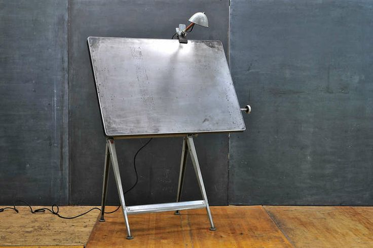 mid centry modern drafting table   Mid-Century Dutch Modern Rietveld Steel Reply Drafting Table image 5