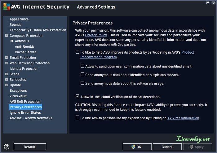 avg internet security blocking internet explorer