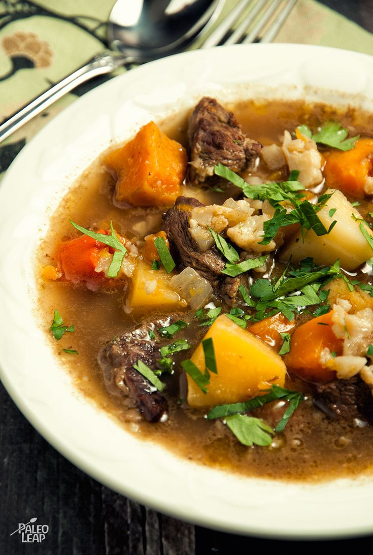Beef and Winter Vegetable Soup #Paleo