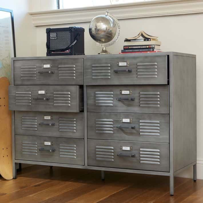 15 Unique And Trendy Dresser Alternatives In 2020 In 2020 Locker Dresser Locker Furniture Boy Room