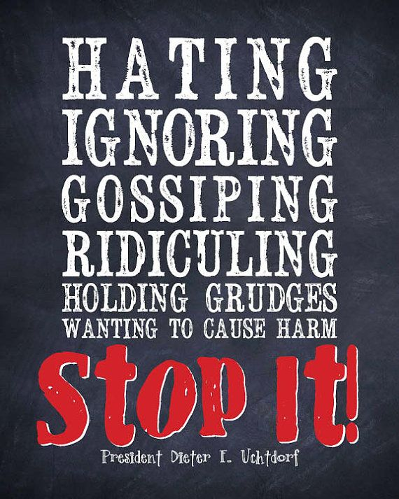 "LDS Quote - ""STOP IT"" - by President Dieter F. Uchtdorf. $7.00, via Etsy."