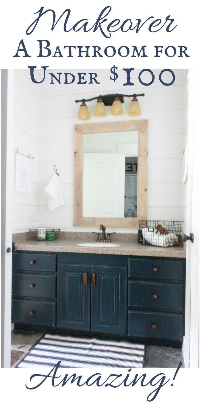 Sie können ein Badezimmer für weniger als 100 US-Dollar neu ...
