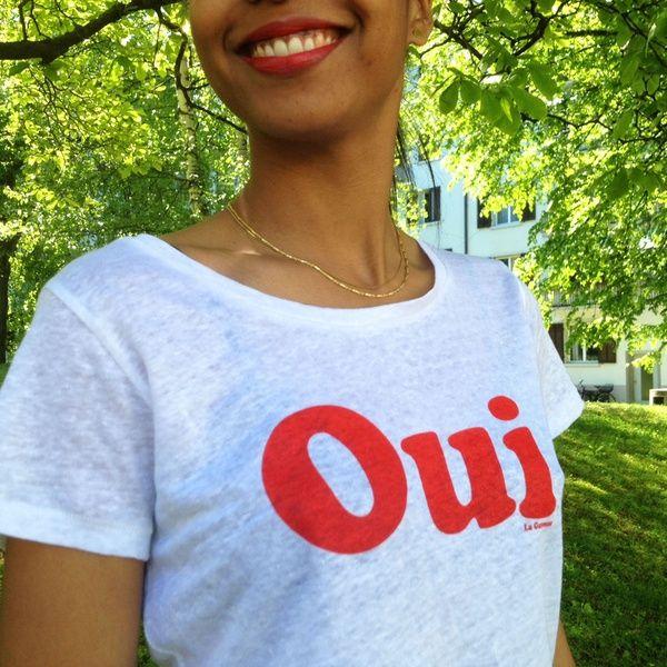 Oui T-Shirt 100% Leinen #onyva #tshirt #whitetee #oui #tee #fashion #trends #smile #zurich #switzerland #schweiz #biel #bienne #bern #chur #onlineshop