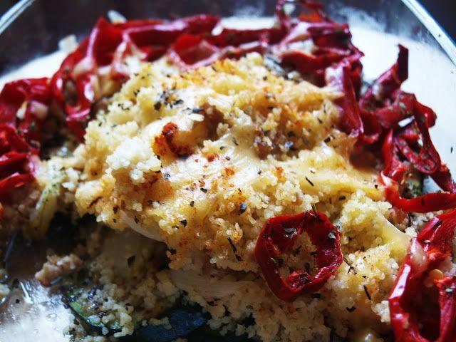 Student też potrafi gotować: Zapiekanka z cukinii, papryki, cebuli i kaszy kuskus