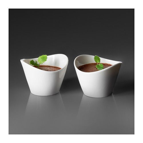 SKYN Serving bowl IKEA Made with fine china that is both thin and lightweight but strong and durable.