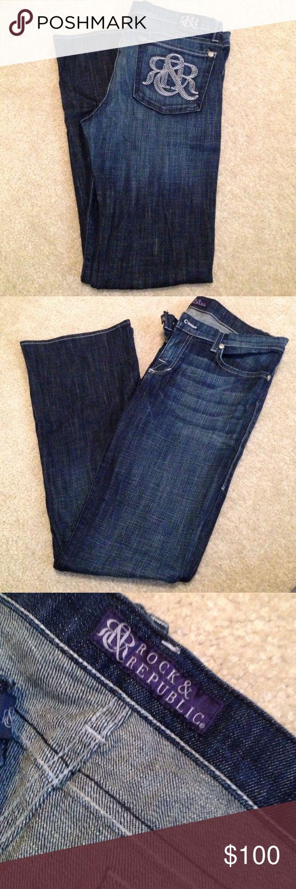 Rock & Republic jeans 31 in inseam. Great condition Rock & Republic Jeans Boot Cut