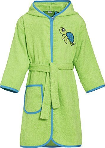 #Playshoes #Jungen #Kinder #Frottee #Bademantel #Schildkröte mit #Kapuze, #Grün #(Grün 29), #110 #(Herstellergröße: #110/116) Playshoes Jungen Kinder Frottee-Bademantel Schildkröte mit Kapuze, Grün (Grün 29), 110 (Herstellergröße: 110/116), , Kinder Bademantel aus Frottee um schnell trocken zu werden und zum aufwärmen. Damit bleiben die Kleinen garantiert warm. Ausgestattet mit einer großen Kapuze und einem Bindegürtel zum verschließen des Bademantels. Besonders praktisch ist der Knopf im…