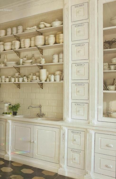 What a kitchen!  Love the ironstone.