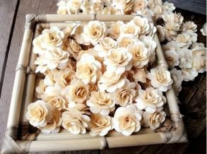 Wood flowersWooden Flower, White Flower, Birches Wood, Birches Flower, Birchwood Flower, Rose Wedding, Places Cards, Wooden Rose, Recycle Wood