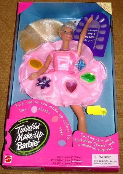 Twirlin' Make Up Barbie - 1997 - I had the Black one and she had a purple dress.