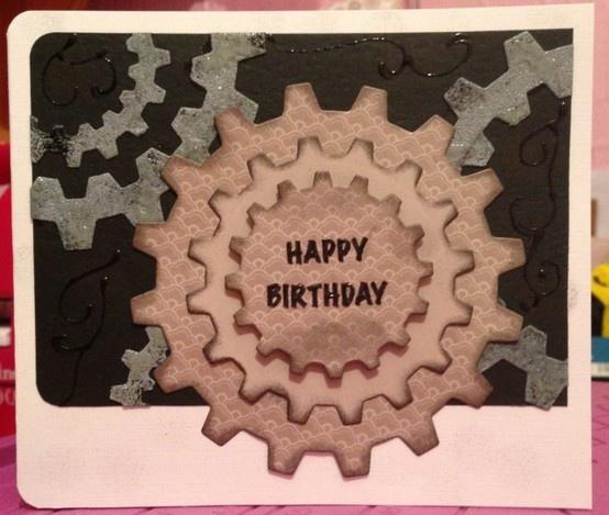 """Grungy cogs """"Happy Birthday"""""""