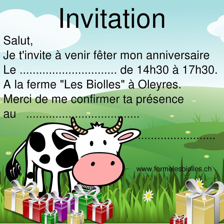carte invitation anniversaire à imprimer : carte invitation