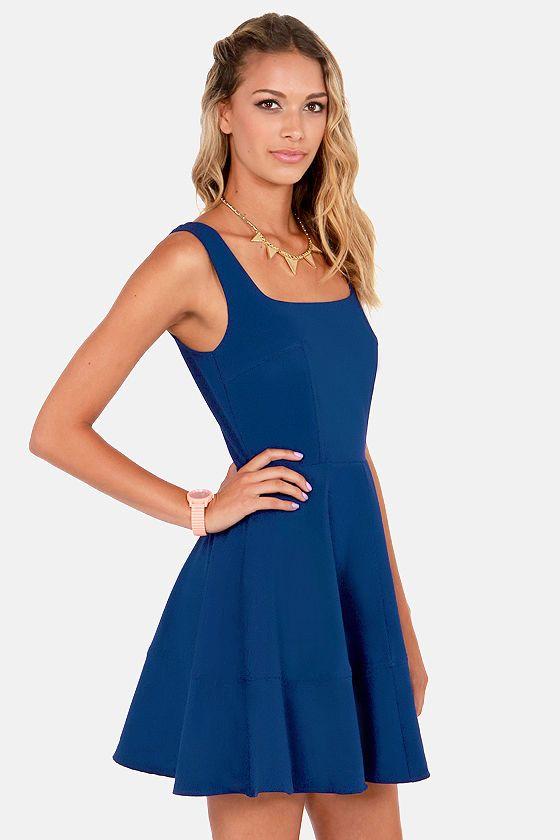 Home before daylight indigo blue dress