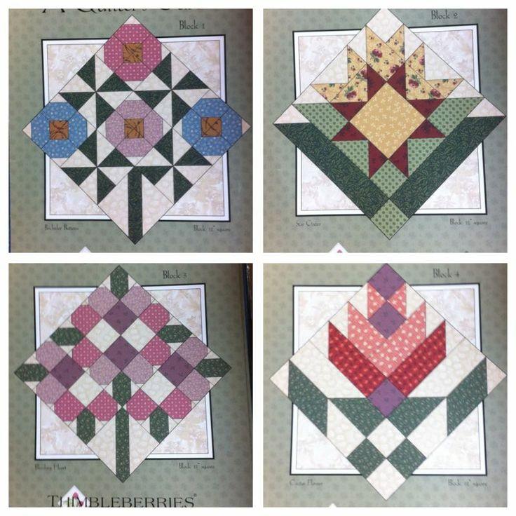 Thimbleberries Garden Quilt Pattern Books 1 thru 4 by Lynette Jensen