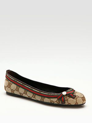 Gucci Mayfair GG Ballet Flats, these with a cute bluejean, above the knee skirt, and a sweet white lace top..
