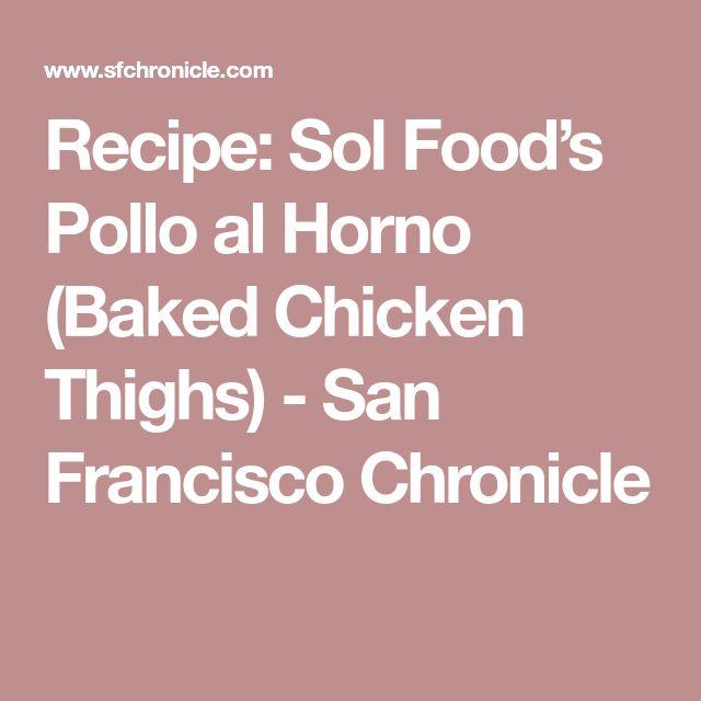 Sol Food Pollo Al Horno Recipe