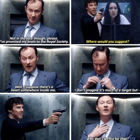 I love how Mycroft was actually trying to make it easier for Sherlock. Such a heartbreaking episode!