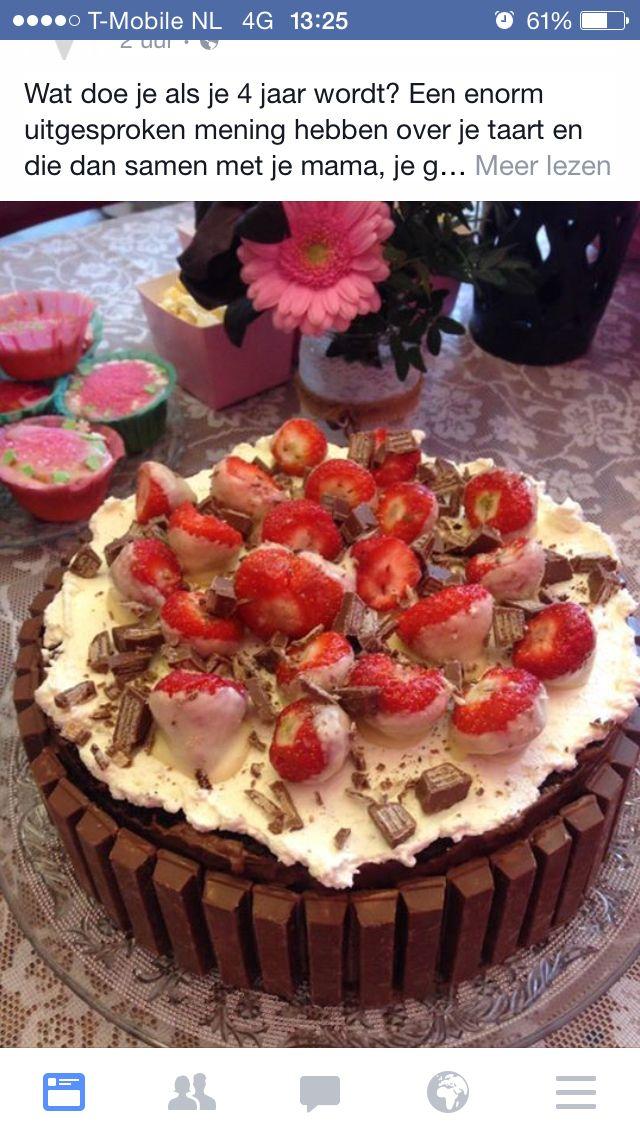 KitKat met aardbeientaart