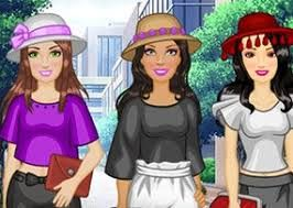 Barbie Paper Bag Pants: As melhores amigas da Barbie estão na cidade e elas não podem esperar para vê-la. Vamos meninas, vestir Barbie e suas amigas para um dia de diversão. Todos na cidade notarão como que elas são fashionistas e lindas.