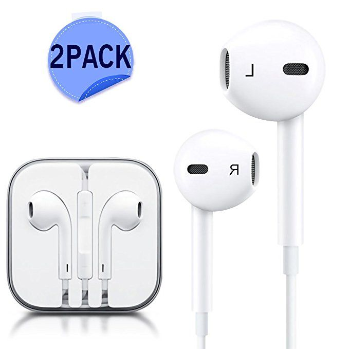 Jnddf Premium Earbuds Stereo Headphones 2 Pack Noise Isolating Headset Control For Iphone Ipod Ipad Samsung Galaxy S Apple Headphone Earbuds Iphone Earphones