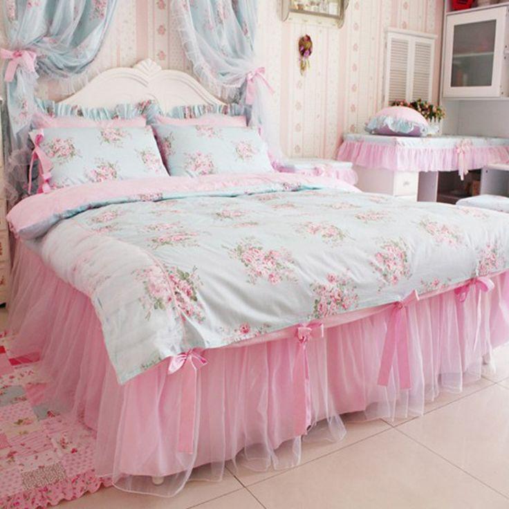1 pieza falda de cama --- 400 hilos Color rosa slido UK