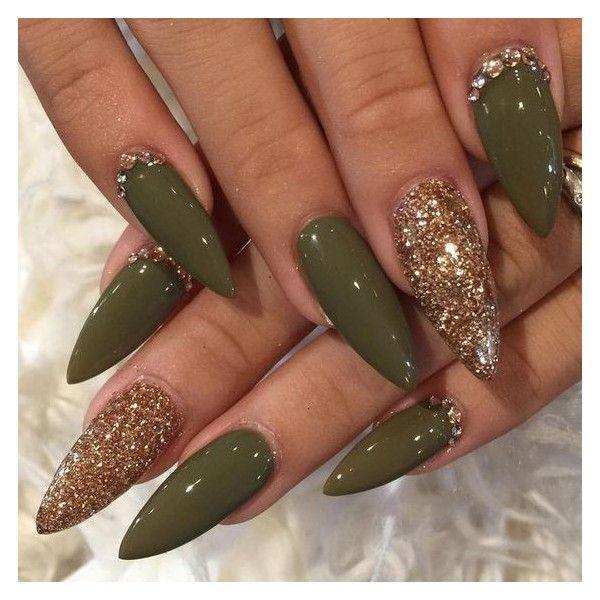 25 best ideas about gold stiletto nails on pinterest