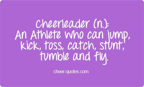 Cheer quotes .