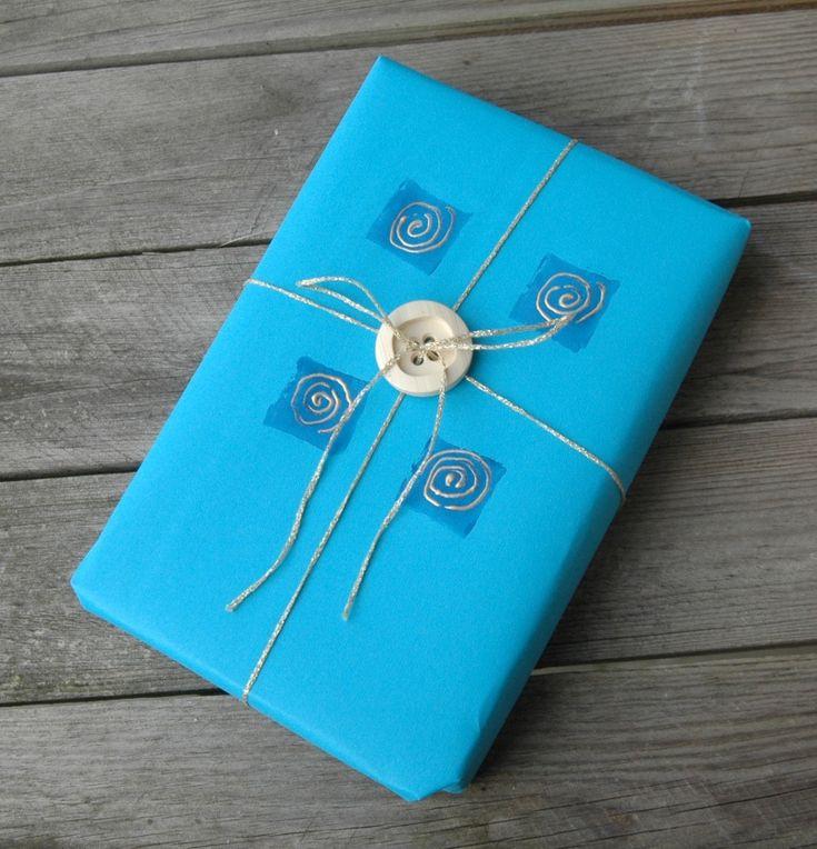 Zelf kadoverpakking maken, stempelen, #handmade #diy #handgemaakt