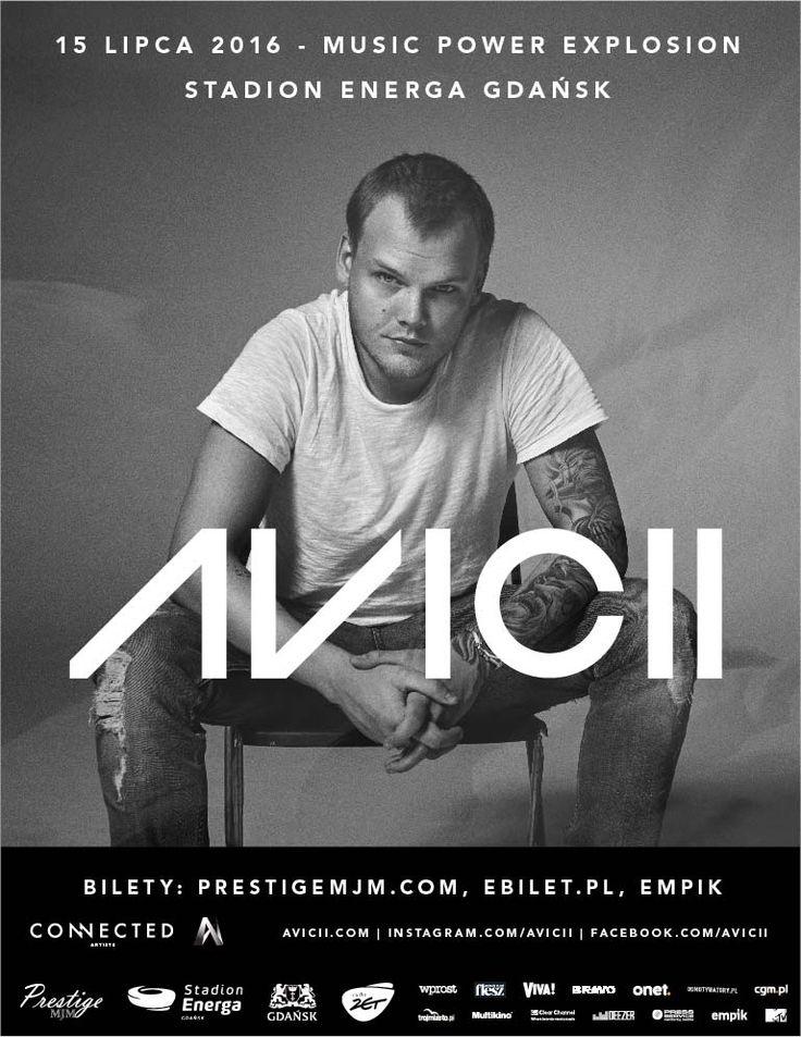 Oficjalny plakat koncertowy #Avicii!