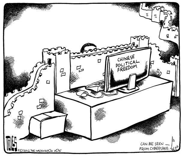 political freedom chinese and cartoon on pinterest