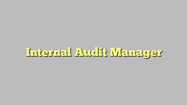 how to become an internal audit manager
