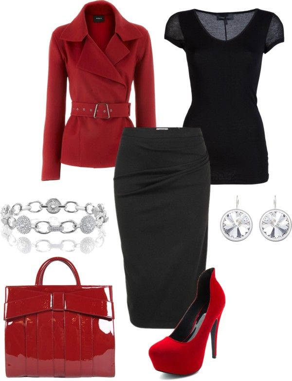 Classy: Classy Outfit, Fashion, Classy Work, Red Shoes, Black Outfit, Hot Clothing, Work Outfit, Offices Wear, Red Black