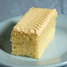"Butterscotch Finger Cakes: from the light cake to the ""krimped"" icing, this recipe will bring back memories."