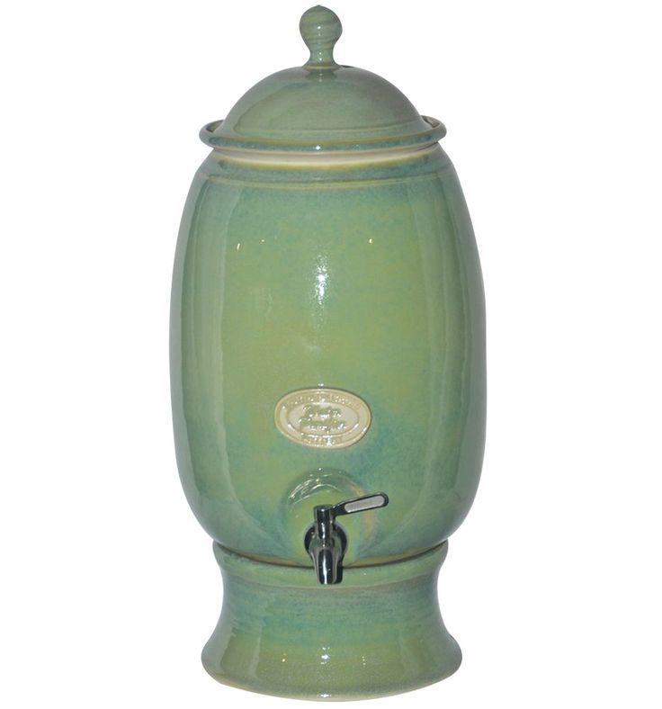 $269 I NEW Handmade Southern Cross Ceramic Water Filter Purifier Sage Green