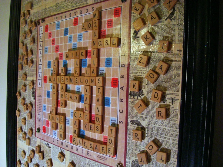 How to make a Hanging Magnetic Scrabble Board - might be fun in the classroom