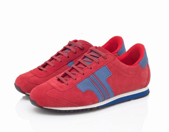 TISZA CHERRY- Velours leather sneakers. Made in Hungary.