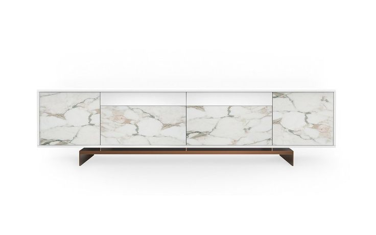 Sideboard grammi calacatta and mdf white lacquered