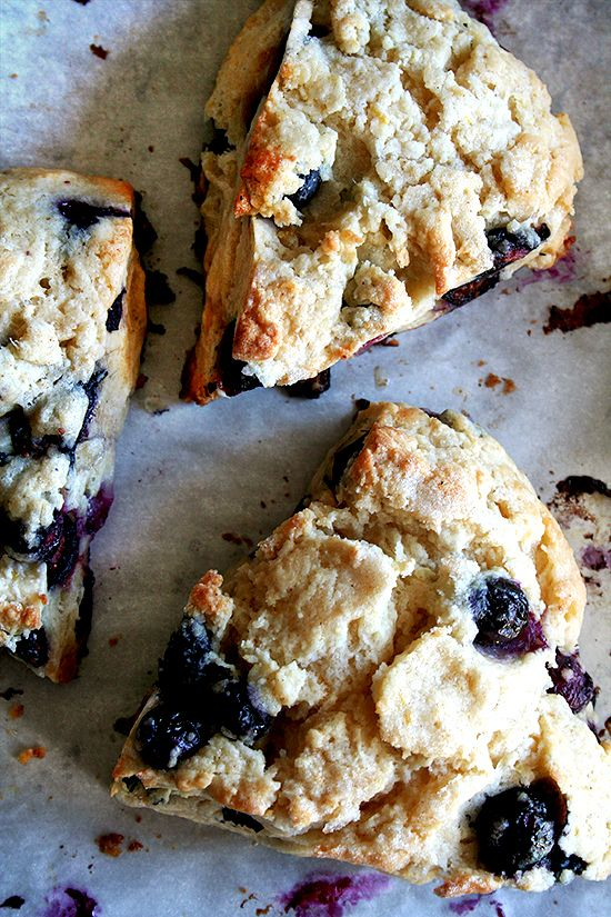 The best scones ever. Tartine's scone recipe with the addition of blueberries. Best way to start the morning.
