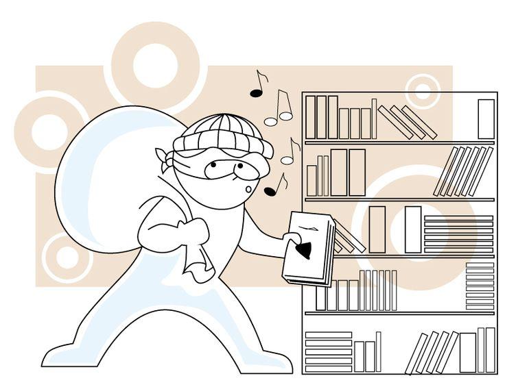 """Ilustración Digital. """"Ladrón""""  Encargo hecho por diario """"La Tercera"""""""