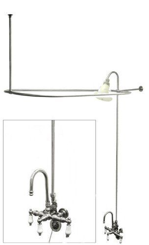Add a Shower Complete Clawfoot Tub Shower Kit  Everything you need to  convert that old22 best Clawfoot Tub Shower Kit images on Pinterest   Clawfoot tub  . Add Shower To Clawfoot Tub. Home Design Ideas