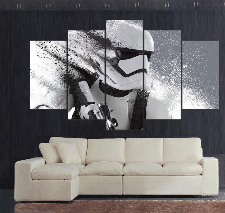 living room art prints%0A   Piece print painting stormtrooper star wars movie poster Picture for  Modern Home Decor Living Room
