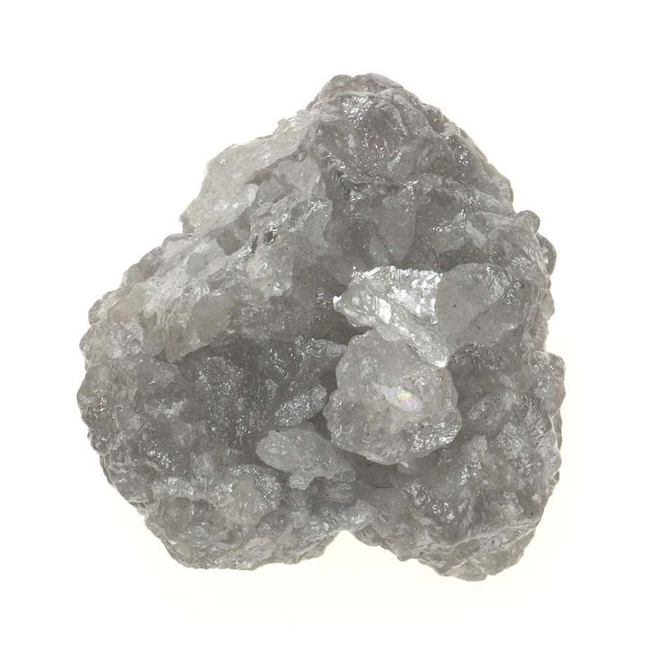 4.22 TCW Africn Natural Loose Raw Rough Diamond Natural Shape Silver Gray Color
