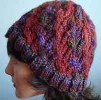 free #knitting pattern for this Kaya Cabled Bi-Color Hat