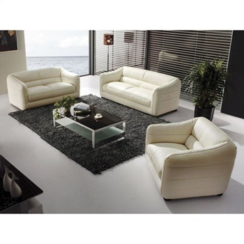 Cream Leather Sofa Set From Dctstores.com.